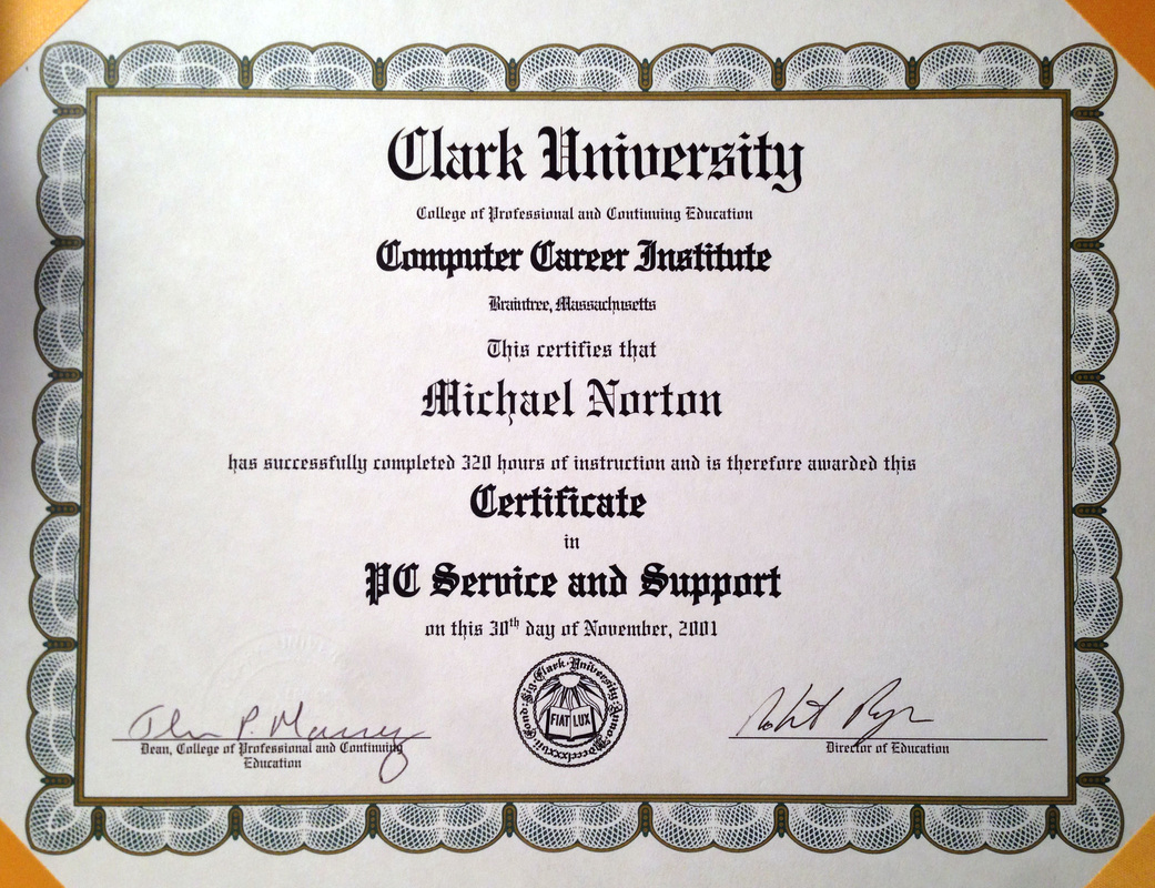 About mike the computer guy onsite pc repair south shore pc comptia a comptia network microsoft certified professional mcp microsoft certified desktop support technician mcdst xflitez Choice Image